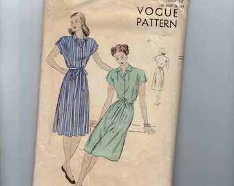 1950s Vintage Sewing Pattern Vogue 5736 Maternity Dress Size 12 Bust 30 50s