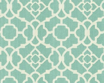 REMNANT PIECE - Waverly Lovely Lattice Lagoon Sun N Shade Outdoor Fabric