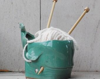Handmade yarn bowl, knitting bowl, gift ideas for mom, crochet bowl, handmade pottery, ceramic yarn bowl, gifts for grandma, unique gifts