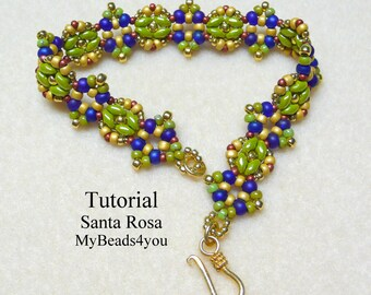 Beading Pattern, Beadwork Bracelet Pattern,Beadweaving Tutorial,Jewelry Making Beading Pattern,Seed Bead Tutorial,Beading Instructions