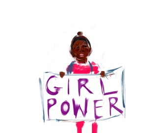 Girl Power Postcard benefiting Planned Parenthood