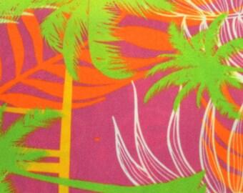 tropical pink orange print