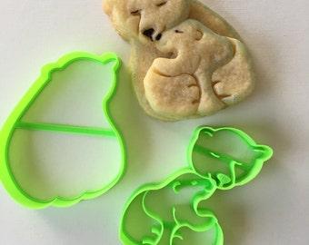 Polar Bear and Cub Cookie Cutter Set