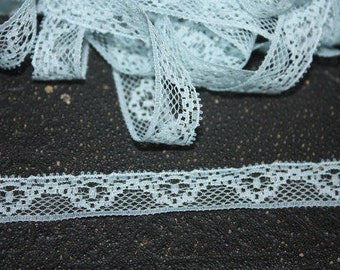 5 Yards=4.57 Meters of Blue Lace Wavy Floral Design- For Dolls clothing's, Costume Design, Scrapbooking, Sewing, Embellishing, Floral Supply