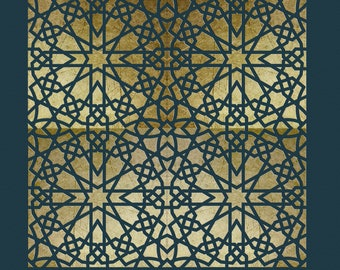 Moroccan Tile Stencil for Walls & Furniture  ST28