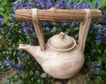 Tea pot in natural colour