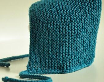 Baby bonnet, Pixie Hat handknitted Beanie