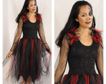 Adult Fairy Costume  ~Cinco De Mayo ~ Halloween ~ Gothic ~  Sorceress ~ Medieval ~Theatre ~ Steampunk ~ Day Of the Dead