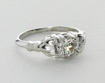 Vintage Art Deco Diamond Ring, 0.45 Ct