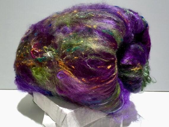 "fiber art batt, felting spinning batt, ""Wildethyme SURPRISE"" batts, your choice 1-3 colors 4 oz, felting wool, spinning fiber, surprise batt"