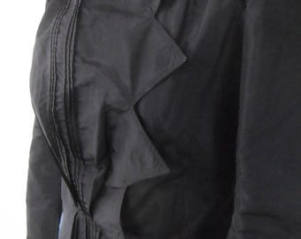 1885-1900 Tafetta Victorian Fitted Jacket in Black