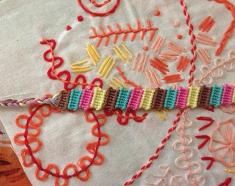 SALE 40% OFF Variegated Block friendship bracelet