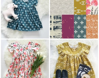 Bohemian Babies Dress//Best Selling Prints//Short Sleeve Knit Dress//Girl's Dress//Twirl Dress//Sizes 2T to 12//Made to order