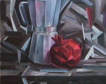 oil painting, unframed