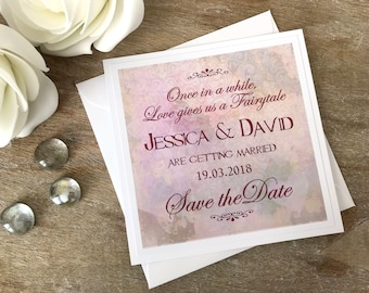 Save the Date cards Fairytale themed