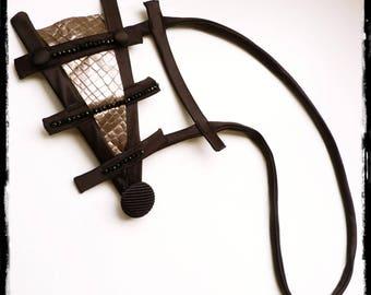 Silver Sleek Black Necklace