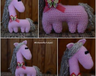 Pony, Horse, Crochet Pony, Plush Horsy, Stuffed Pony, Plush Pony
