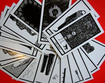 Set of Edward Gorey Fantod Cards for Art Projects Crafts and Assemblage