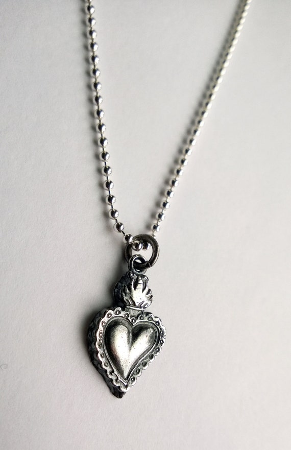 Sacred heart necklace sacred heart pendant sacred heart aloadofball Images