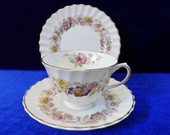 Royal Doulton Mayfair trio cup saucer side plate