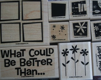 WHAT COULD Be BETTER Wood - Stampin' Up retired - Stamp Set