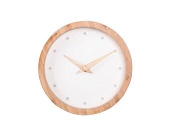 minimalist bamboo clock
