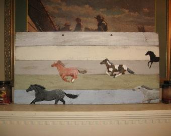 horse painting on wood Custom Horse Painting original artwork horse decor