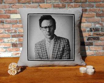 Jimmi Simpson Pillow Cushion - 16x16in - Grey