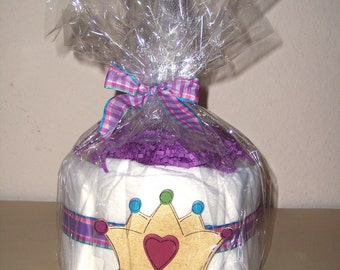 Purple Princess Mini Diaper Cake