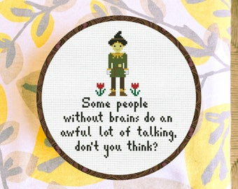 Cross Stitch Pattern Scarecrow from Wizard of Oz Instant Download PDF Counted Chart