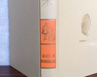 Alice in Wonderland AND  Through the Lookings-Glass, Gift girl, Vintage hard cover book