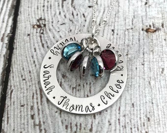 Family Birthstone Necklace, Birthstone Jewelry for Mom, Personalized Birthstone Necklace, Birthstone Necklace, Mothers Day Gift, Nana Gift