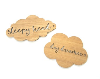 Wooden Cloud Day Dreamer-Sleepyhead wall hangings-photoprop-flatlay