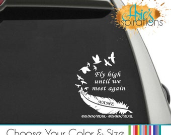 Memory Car Decal Etsy - Window decals in memory of