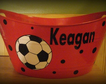 Soccer Basket, Easter Basket, Personalized Easter Basket, Soccer Gift, Soccer Bucket, Personalized Soccer, Soccer Ball