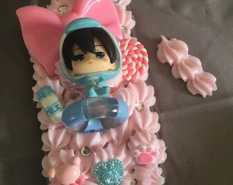 Iwatobi  blue and pink iPhone 7/ 8 decoden case