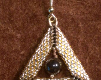 Gold Egyptian Triangles--Delica Beads