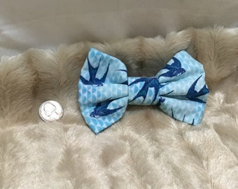 Medium Lolita Hairbow Blue Bird