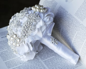 brooch wedding bouquets for sale vintage bridal brooch bouquet pearl rhinestone 2085