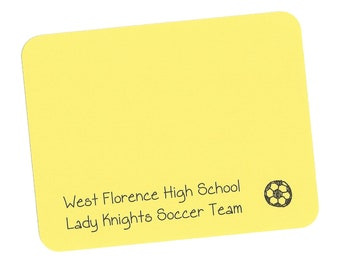Soccer Ball Cards - Custom Soccer Note Cards, Childrens Soccer Cards, Kids Thank You Cards, Kids Soccer Stationery, Soccer Sports Team Cards