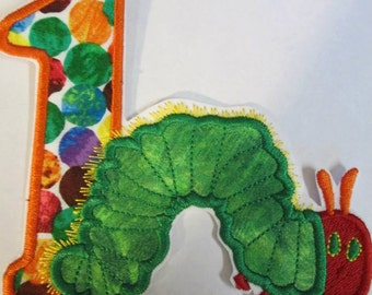 Iron On Applique - Caterpillar Birthday