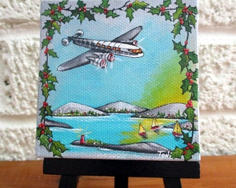 Chirstmas Flight to the Islands Miniature Painting