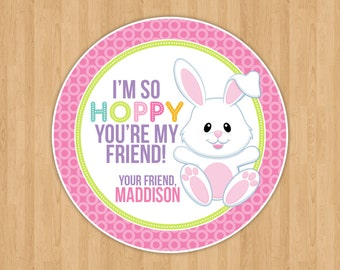 Easter Bunny Favor Tags