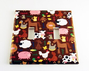 Double Switch Plate in  Barnyard (169D)