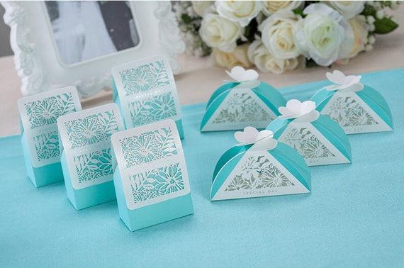 Diy Wedding Gift Ideas For Guests: 50 Tiffany Blue Wedding Favor Boxes/DIY Wedding Favors For