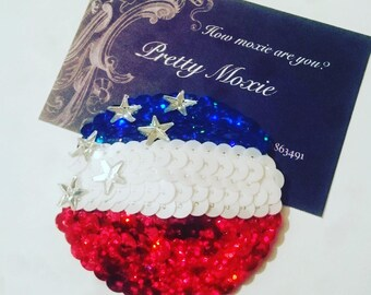 American flag nipple pasties USA 4th July burlesque / stripper / showgirl