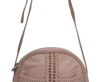 SALE. MA FLUER. Leather crossbody bag / leather purse / leather bag / saddle bag / leather boho bag.