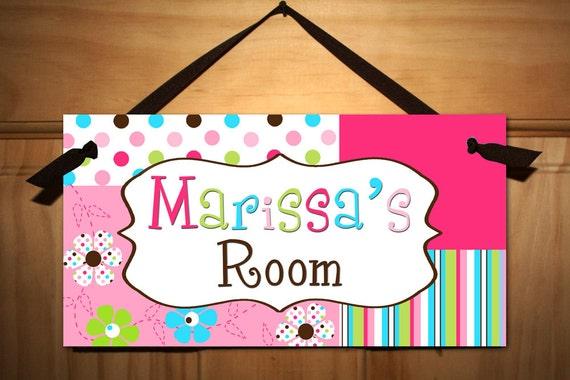 Flower Candy Girl Teen Door Sign Kids Bedroom Playroom Wall