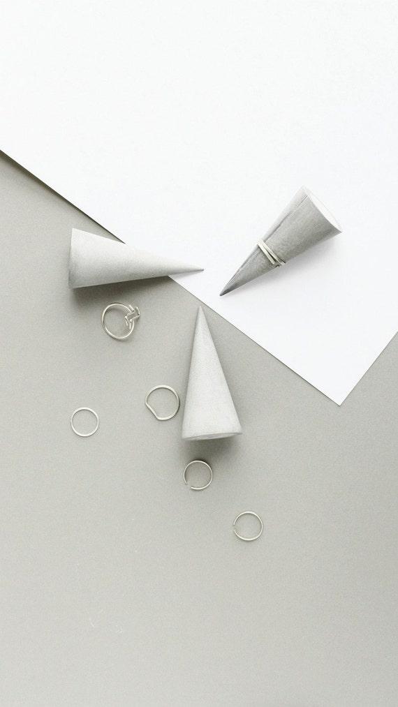 Minimalist Jewelry Organizer Concrete Ring Cones Modern