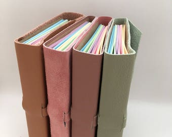 Leather journal travel journal leather notebook suede journal travelers journal pretty pastel planner bullet journal bujo